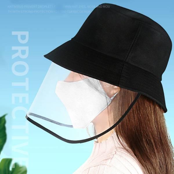 *「新款」日本熱銷【多一層保護】防疫漁夫帽 防疫帽 ,防飛沫,防護帽,護目,防曬黑色,擋風帽,帽子,隔離 防唾液飛沫,護目面罩,漁夫帽