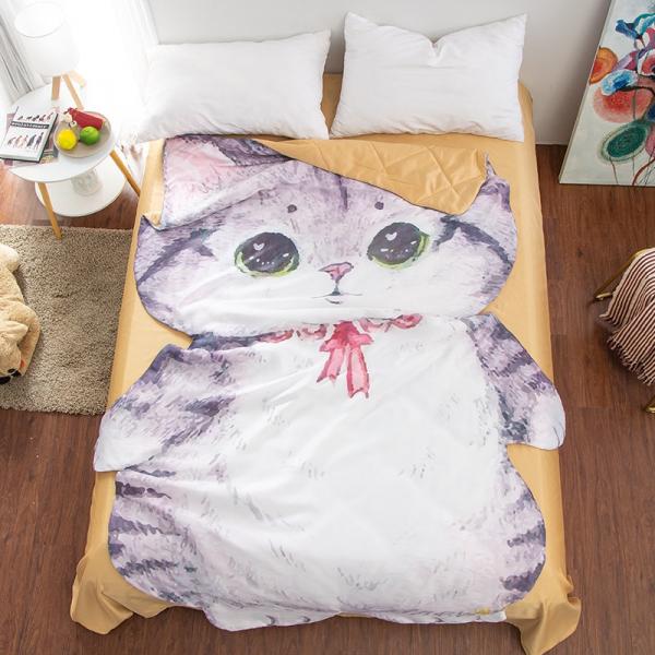 【陪你度過炎炎夏日】貓咪涼被 涼被、天絲、舒服、貓圖樣