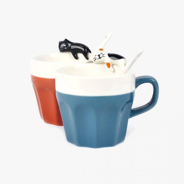 *放鬆貓咪陶瓷杯