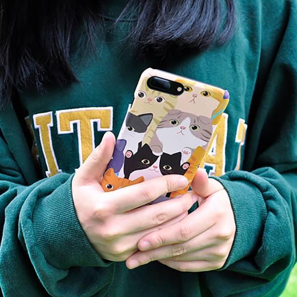 *【喵喵保護你的愛機】手機殼 多貓手機,手機殼,萌貓手機殼