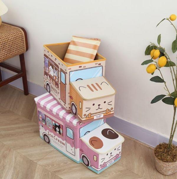 【貓車車puipui】日本FUKU餐車貓收納箱