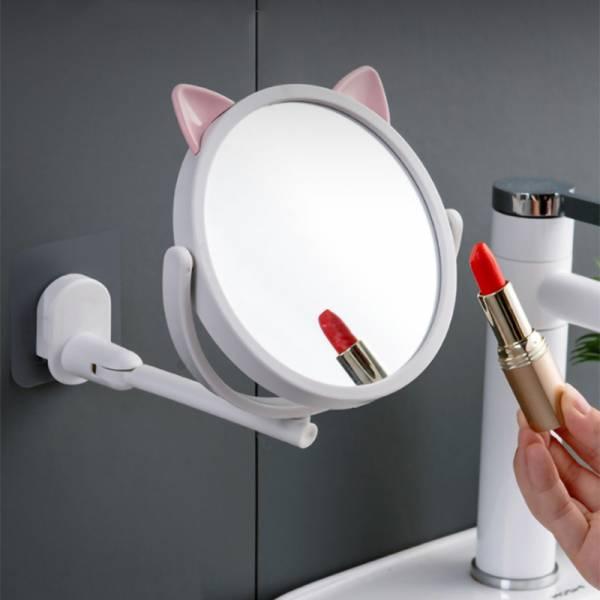 【化妝也要有喵陪】貓耳壁掛化妝鏡