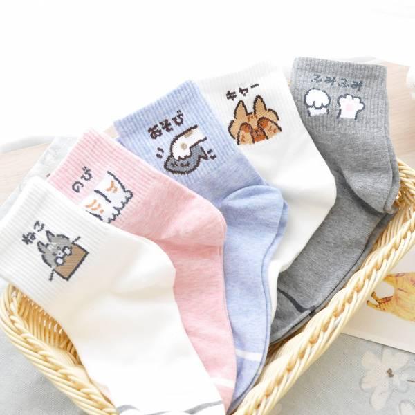 【好搭喵喵質感襪】襪子 舒適,貓掌襪,韓風,棉質