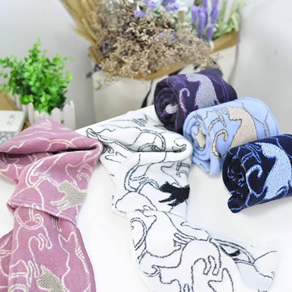 *日本進口【主子的法式溫暖】法國短圍巾 圍巾、貓圍勃、貓背影圍巾、短圍巾