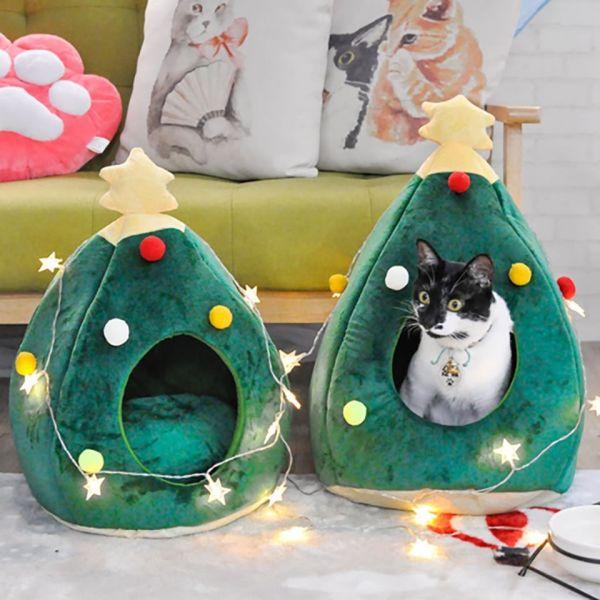 【喵喵躲在聖誕樹】聖誕節貓窩 禮物,貓窩,聖誕節,聖誕樹,主子,毛小孩,2020,貓咪,喵星人