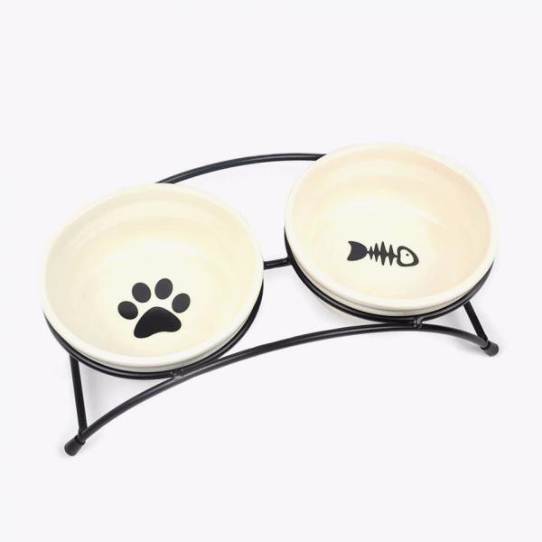 小貓掌鐵架陶瓷碗