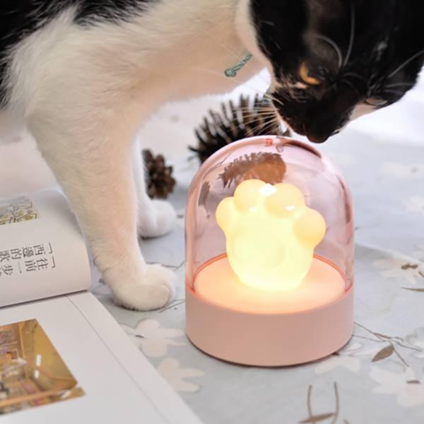 【來點音樂來盞燈】貓掌燈 貓掌音樂盒,可愛貓咪音樂盒,小夜燈音樂盒
