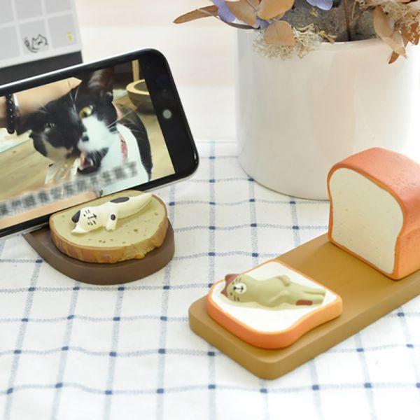 【手機座也能萌噠噠】泡芙麵包手機座 手機座,手機,平板,手機架