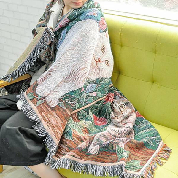 【沙發裡有沙發meow】貓咪針織毛毯