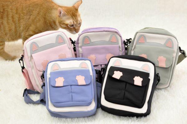 【獨特的喵喵包】貓咪休閒帆布小方包