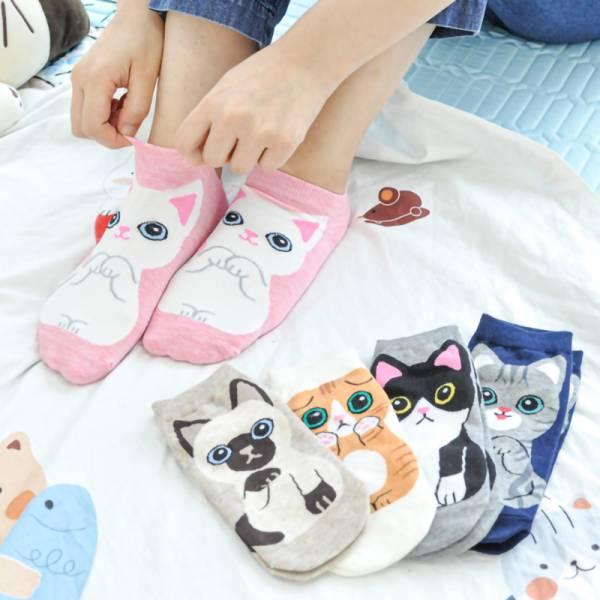 【各種喵陪你出門】貓咪船襪 船襪,外出,貓咪船襪