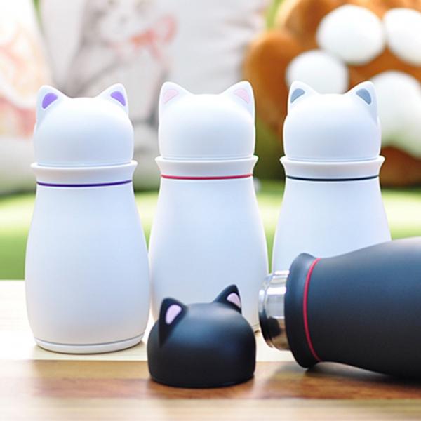*【牛奶貓貓融化你】保溫瓶 保溫杯、文青、260ml