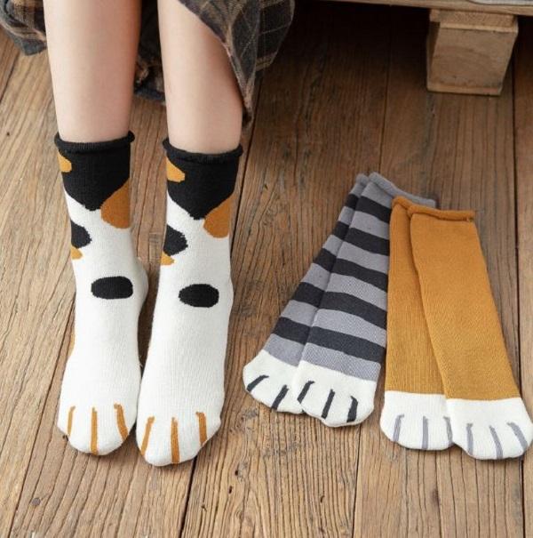 【一起學貓步】外出款貓襪 貓咪外出襪,可愛貓咪襪,肉球襪