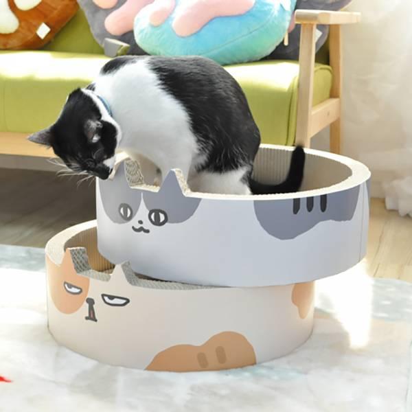 【就想抓爆它】貓抓板 貓臉貓抓板,大容量貓抓板,貓咪貓抓板