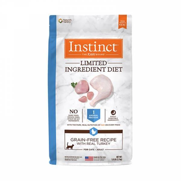 原點【Instinct火雞肉低敏成貓配方飼料2.2公斤】 原點 Instinct 成貓配方 低敏火雞肉 5公斤 (貓飼料)