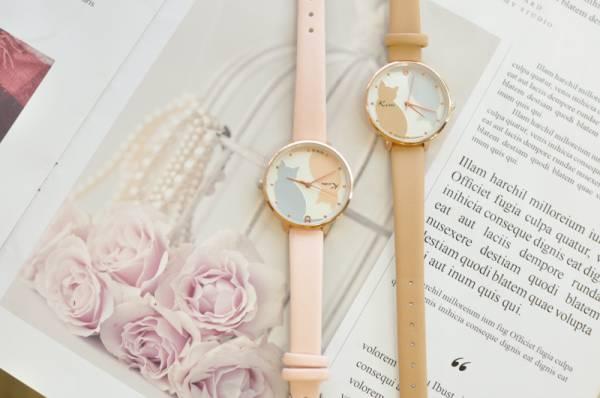 *【鐘裡的兩隻貓】日系清新手錶