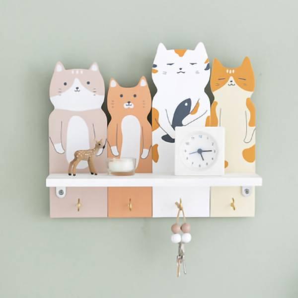 【東西都給喵掛】北歐風貓咪收納層架 掛架,貓咪家居,收納層架