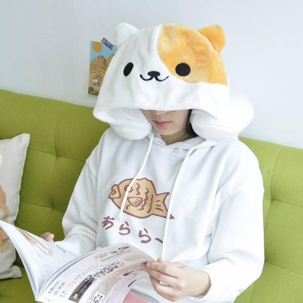 *【午睡也扮貓一下】頸枕 頸枕、舒服軟Q、伴貓、車用