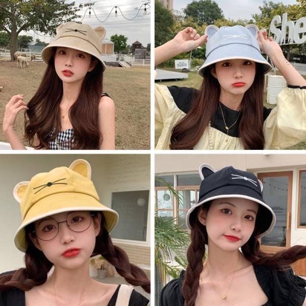 【太陽好大快戴帽子】貓耳漁夫帽