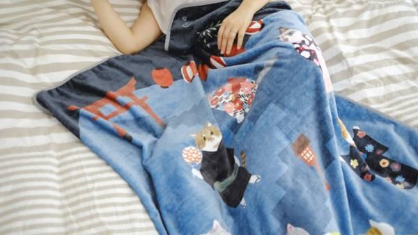 #【暖呼呼貓咪夥伴】空調毯 空調毯、舒適、溫暖