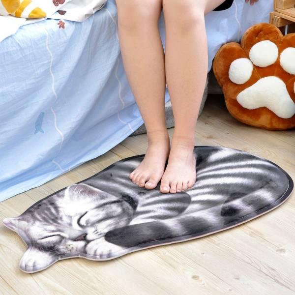 【踩一下貪睡喵】仿貓地毯