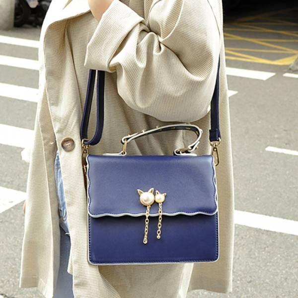 【質感珍珠貓兒包】珍珠背包 珍珠手提包、珍珠側背包、優雅