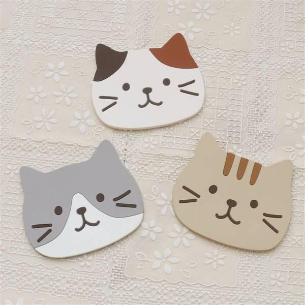 【三個一組】貓咪杯墊