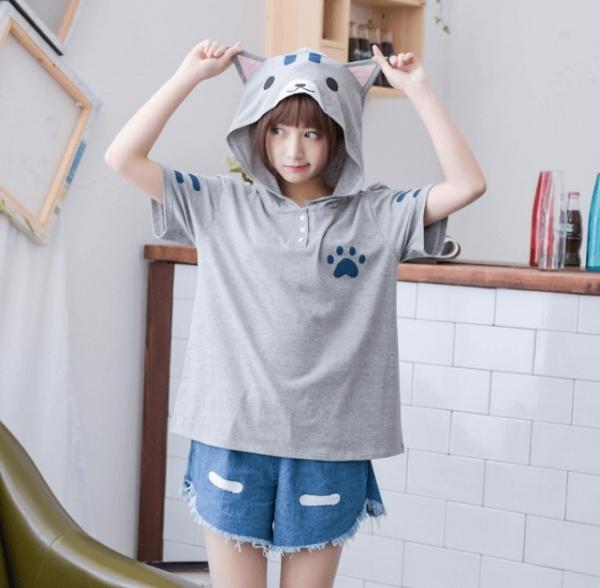 【可愛貓咪的化身】短袖衣