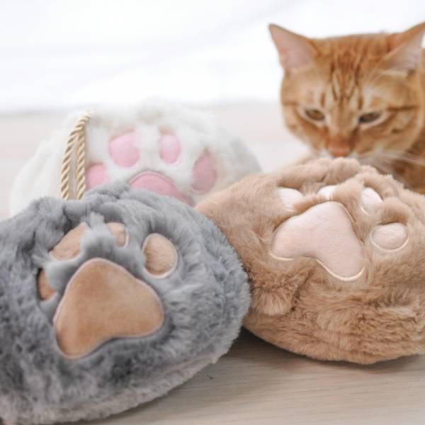 【貓掌裝起你的生活用品】猫爪抽繩化妝收纳包