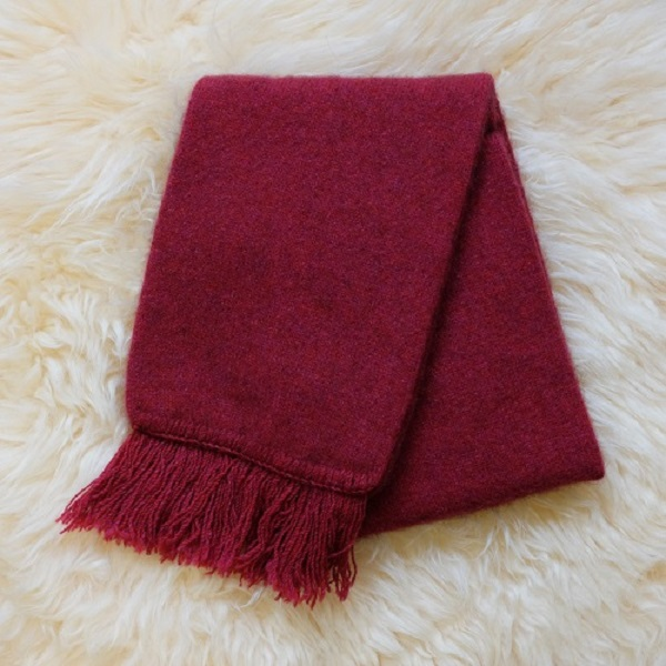 【覆盆子桃紅】雙層紐西蘭貂毛羊毛圍巾 男用女用保暖圍巾 圍巾,保暖,羊毛,保暖圍巾,羊毛圍巾