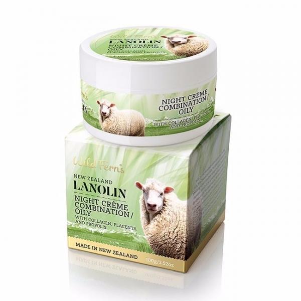 膠原蛋白胎盤素蜂膠晚霜100g混合肌/油性肌 蜂膠,胎盤素,綿羊油,晚霜,面霜