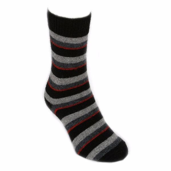 多彩條紋【紅炭灰黑】紐西蘭貂毛羊毛襪保暖襪 冬季保暖襪休閒襪男用女用 保暖襪,毛襪,羊毛襪,雪地襪