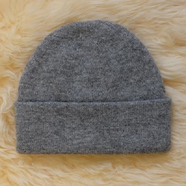 灰色100%紐西蘭純美麗諾羊毛帽 雙層純羊毛保暖帽登山帽男用女用 羊毛帽,保暖帽,登山帽,毛線帽
