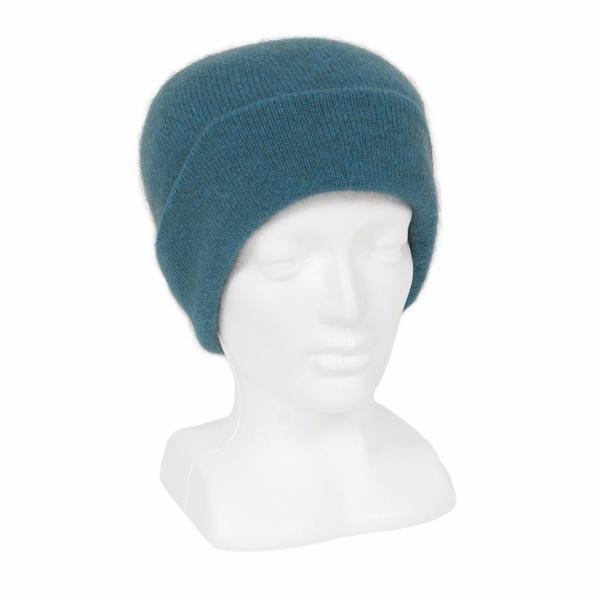 紐西蘭貂毛羊毛帽*藍綠色*雙層保暖帽男用女用 保暖帽,保暖帽男,保暖帽女,羊毛帽