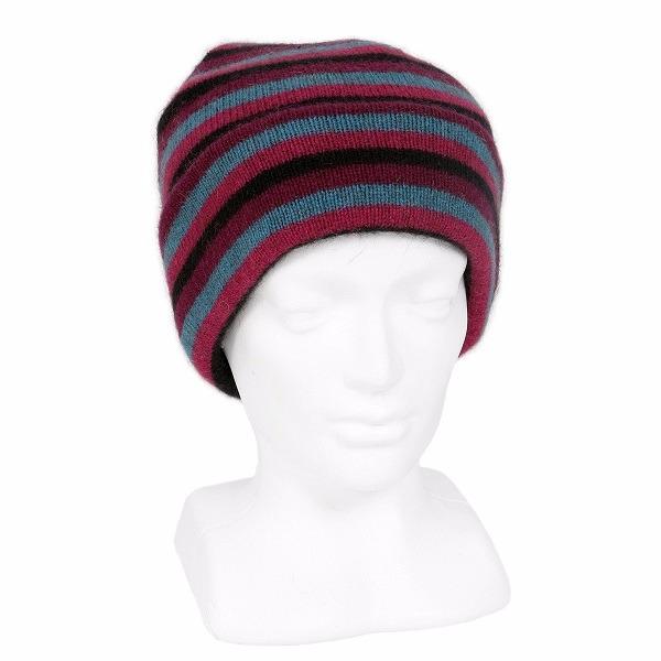 多彩條紋【寶石】紐西蘭貂毛羊毛帽 雙層保暖帽-男用女用 毛帽,羊毛帽,保暖帽,登山保暖帽推薦,羊毛配件