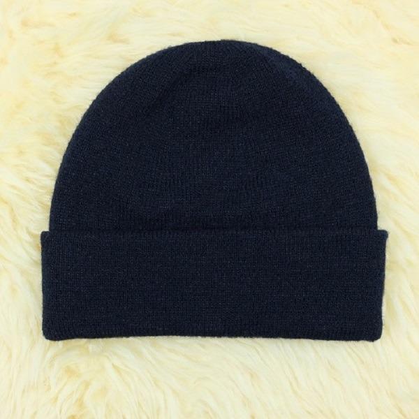 深藍色100%紐西蘭純美麗諾羊毛帽 雙層純羊毛保暖帽登山帽男用女用 羊毛帽,保暖帽,登山帽,毛線帽