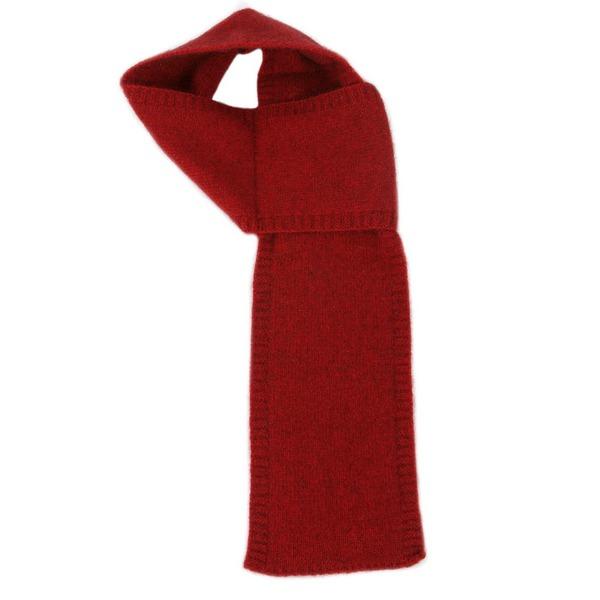 【深紅】紐西蘭貂毛羊毛圍巾(窄版12公分) 輕巧保暖圍巾懶人圍巾-男用女用 保暖圍巾,羊毛圍巾,圍巾