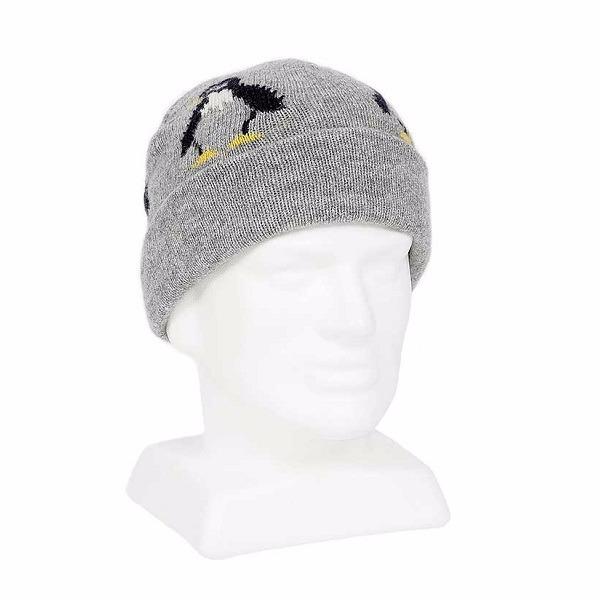 企鵝【灰】紐西蘭100%純美麗諾羊毛帽 雙層冬季保暖帽-登山旅遊居家外出頭部保暖 羊毛帽,保暖帽,防寒毛帽,登山毛帽推薦,毛線帽