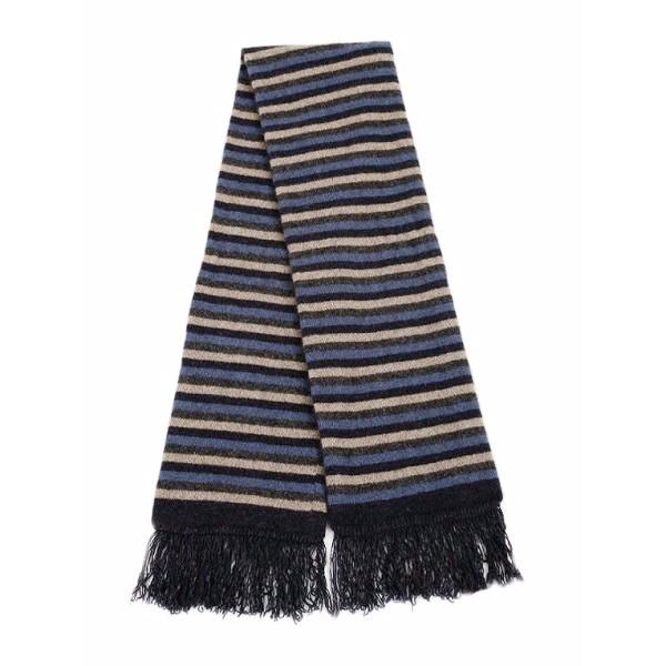 多彩條紋【水藍】雙層紐西蘭貂毛羊毛圍巾 保暖圍巾男用女用 圍巾,保暖,保暖圍巾,羊毛圍巾