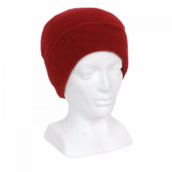 紐西蘭貂毛羊毛帽*深紅色*雙層保暖帽男用女用 保暖帽,保暖帽男,保暖帽女,羊毛帽