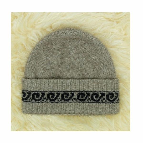 【奶茶色】紐西蘭貂毛羊毛帽保暖帽男用女用 單層薄款-上折帽緣兩層-蕨葉圖案 毛帽,登山保暖帽推薦,保暖帽,防寒保暖帽,雪地帽