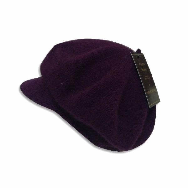 紐西蘭貂毛羊毛帽保暖帽*小帽緣貝蕾帽_紫莓色 圓帽,貝蕾帽,毛帽,保暖帽,報童帽