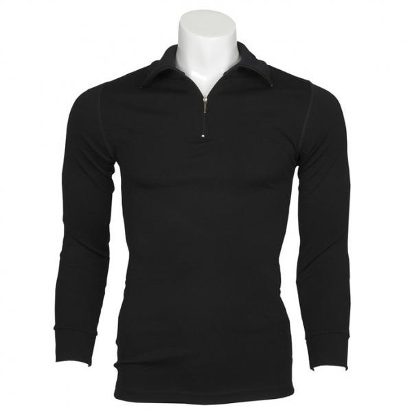 黑色厚款澳洲MerinoSkins運動型保暖衣100%純羊毛衛生衣 拉鍊立領長袖黑色(透氣衛生、天然吸濕排汗) 羊毛衛生衣,衛生衣,保暖衣,吸濕排汗