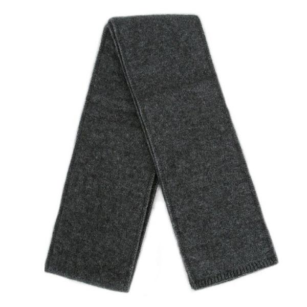 炭灰雙層紐西蘭貂毛羊毛圍巾(長180公分) 秋冬保暖圍巾男用女用柔軟蓬鬆輕量