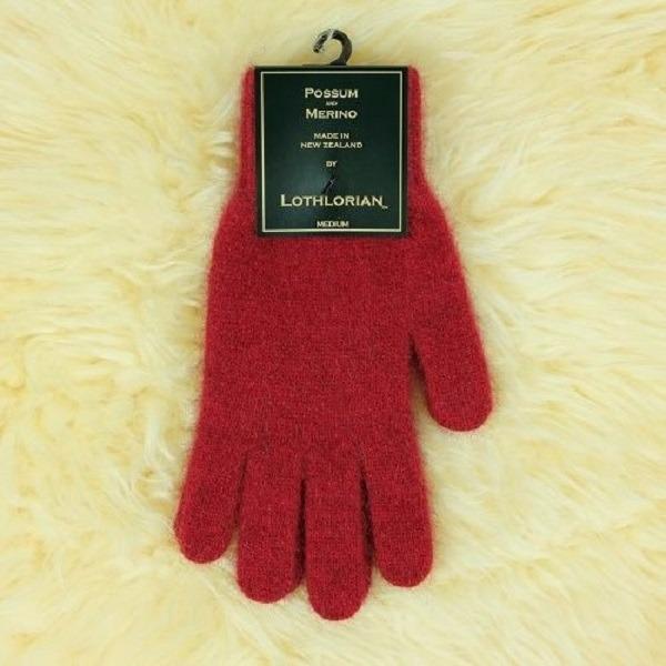 【深紅】紐西蘭貂毛羊毛手套保暖手套 高保溫輕量男用手套女用手套 羊毛手套,保暖手套,防寒手套,手套男,手套女