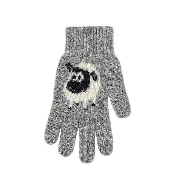 可愛羊【灰】紐西蘭美麗諾純羊毛手套 保暖手套推薦男用女用登山旅遊居家外出 羊毛手套,純羊毛手套,保暖手套,保暖 手套 推薦,防寒手套