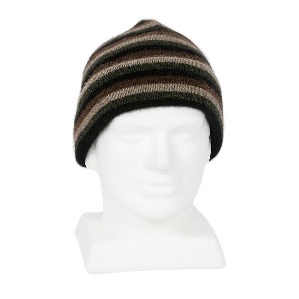 多彩條紋【黑】紐西蘭貂毛羊毛帽 雙層保暖帽-男用女用 毛帽,羊毛帽,保暖帽,保暖帽登山推薦,羊毛配件