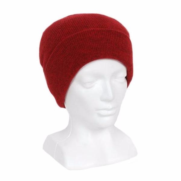 深紅100%紐西蘭純美麗諾羊毛帽 雙層純羊毛保暖帽登山帽男用女用 羊毛帽,保暖帽,登山帽,保暖帽推薦