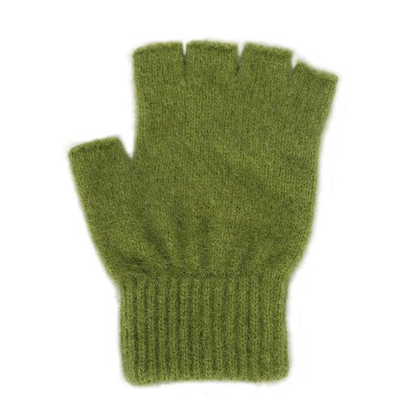 【橄欖綠】紐西蘭貂毛羊毛手套保暖露指手套 保溫輕量半指手套保暖手套 保暖手套,羊毛手套,半指手套 保暖,露指手套