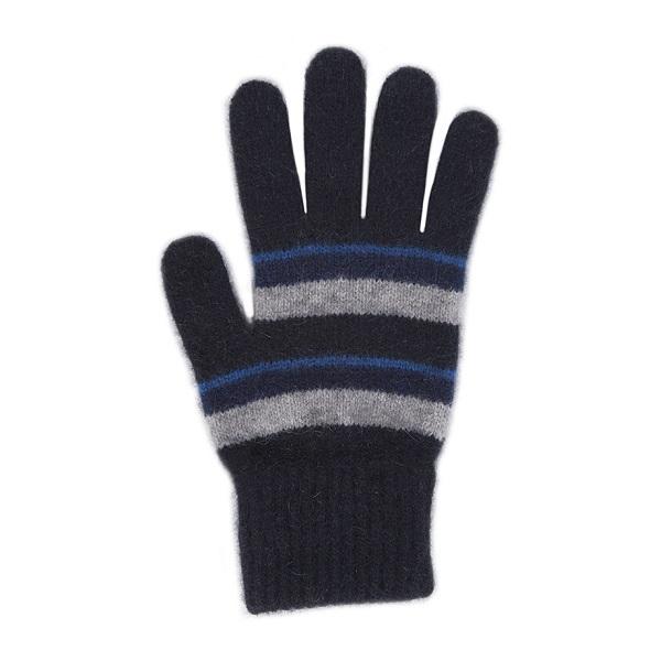 粗細條紋【藍灰黑】紐西蘭貂毛羊毛手套保暖手套 保暖冬季男用手套女用手套 羊毛手套,保暖手套,防寒手套,手套男,手套女